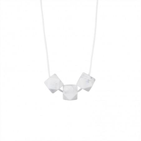 Collier simple dimple marbre