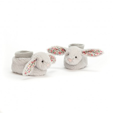Chaussons doudou lapin gris