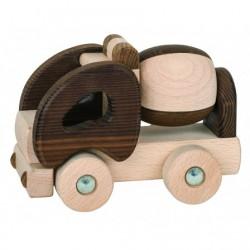 Camion toupie bois naturel