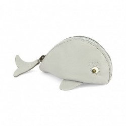 Porte monnaie baleine gris...