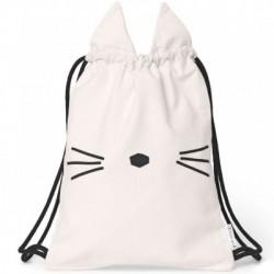 sac à dos chat rose