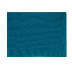 Couverture tricotée coton...