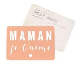 Carte postale Maman je...