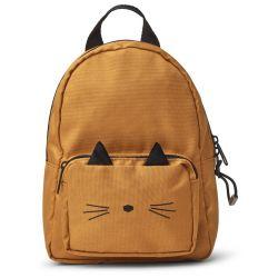 Petit sac à dos chat moutarde