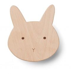 Patère en bois lapin