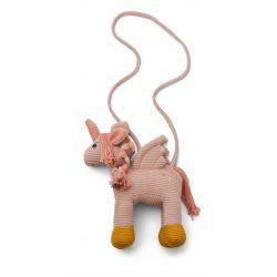 Sac licorne au crochet rose