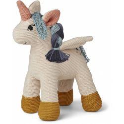 Doudou licorne tricoté