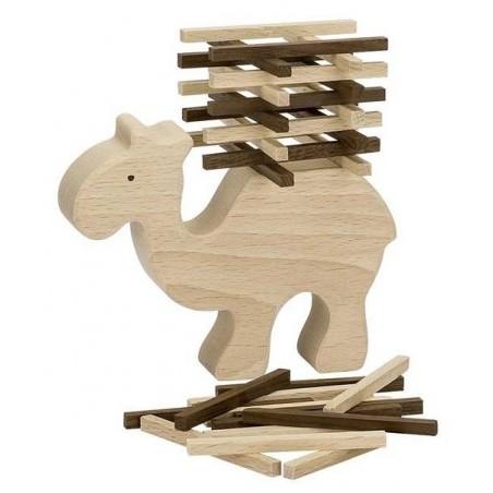 Chameau équilibriste en bois