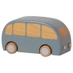 Bus bleu en bois