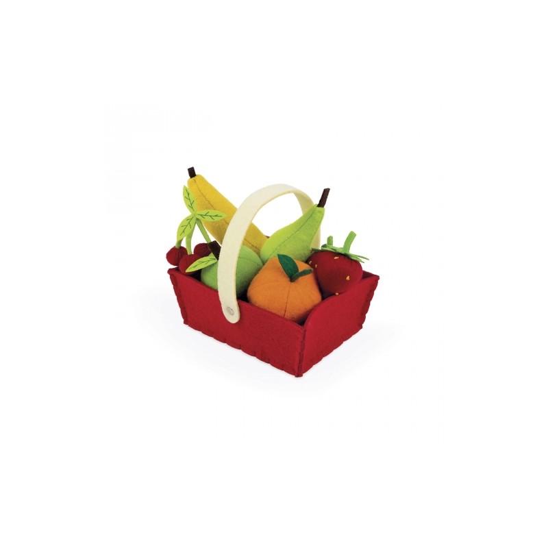 Panier de fruits en feutrine