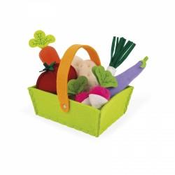 Panier de légumes en feutrine