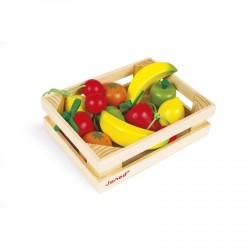 Cagette de 12 fruits en bois