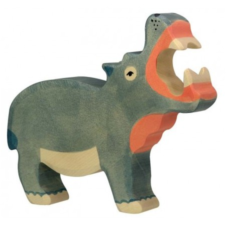 Hippopotame en bois