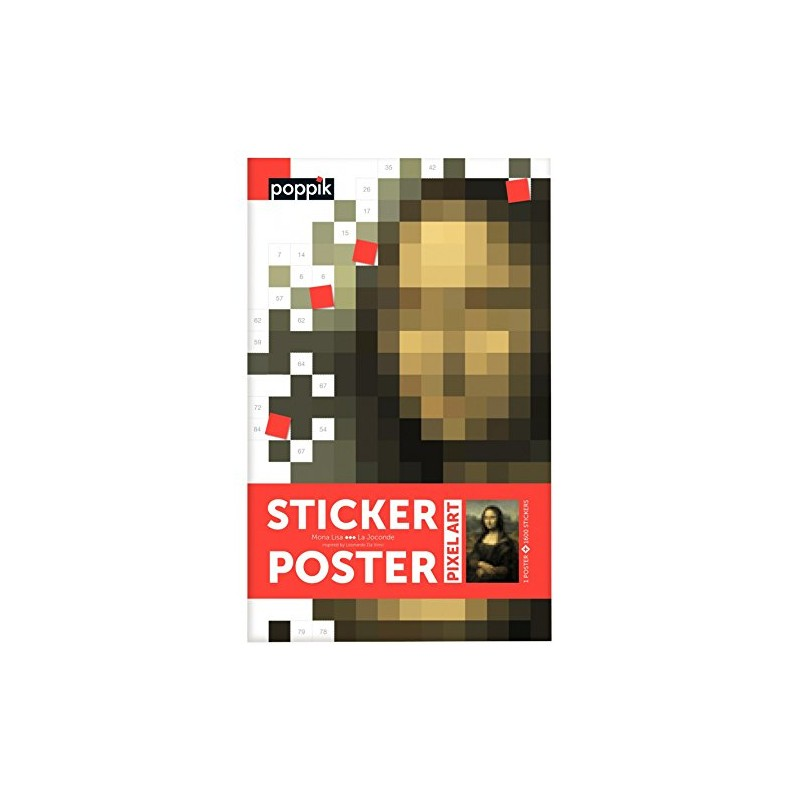 Pixel poster La Joconde
