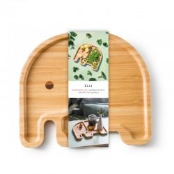 Assiette bamboo éléphant