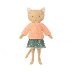 Chat pull en laine