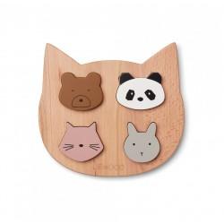 Puzzle en bois 4 formes